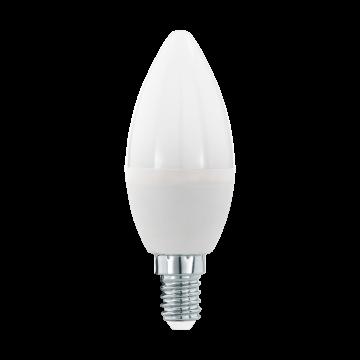 Светодиодная лампа Eglo 11645 свеча E14 5,5W, 3000K (теплый), диммируемая, гарантия 5 лет