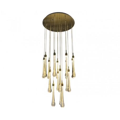 Светодиодная люстра-каскад Kink Light Асмер 07860-18A,33, LED 54W 3000K, золото, прозрачный, металл, стекло