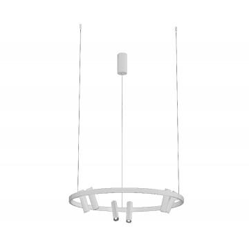 Подвесная светодиодная люстра с регулировкой направления света Kink Light Тор-Флип 08232,01, LED 39W 4000K 2750lm, белый, металл