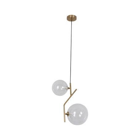 Подвесной светильник Kink Light Киара 07603-2A E14, 2xE14x5W, бронза, прозрачный, металл, стекло