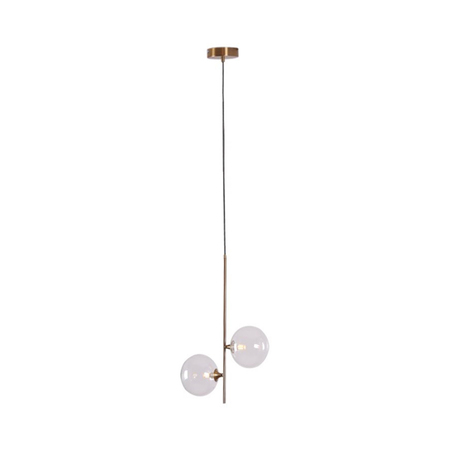 Подвесной светильник Kink Light Киара 07603-2L E14, 2xE14x5W, бронза, прозрачный, металл, стекло