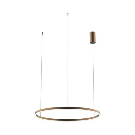 Подвесной светодиодный светильник Kink Light Тор 08214,04P, LED 50W 4000K 4500lm, коричневый, металл, металл со стеклом/пластиком