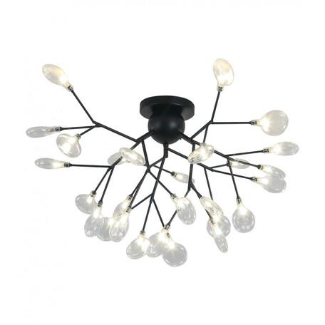 Потолочная люстра Kink Light Ветта 07521-27,19, 27xG4x2W, черный, дымчатый, металл, стекло