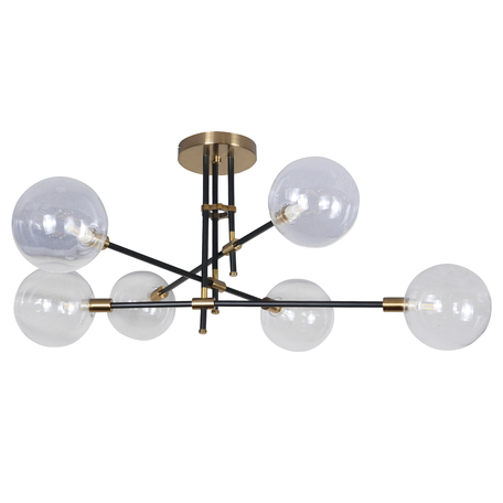 Потолочная люстра Kink Light Киара 07604-6 E14, 6xE14x5W, бронза, прозрачный, металл, стекло