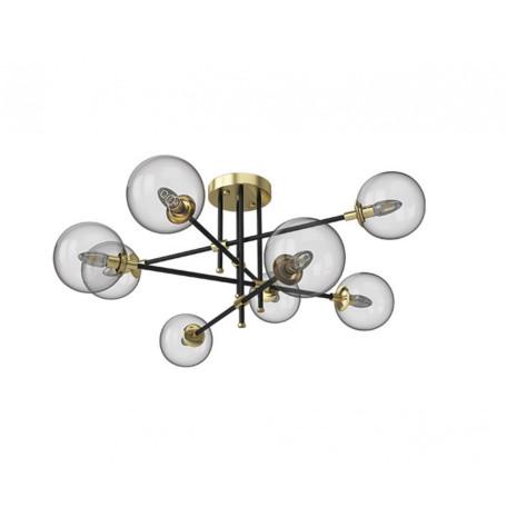 Потолочная люстра Kink Light Киара 07604-8 E14, 8xE14x5W, бронза, прозрачный, металл, стекло
