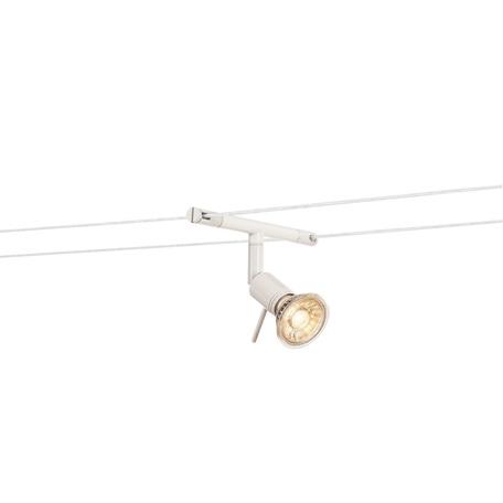 Светильник с регулировкой направления света для тросовой системы SLV TENSEO, SYROS 139101, 1xGU5.3x50W, белый, металл