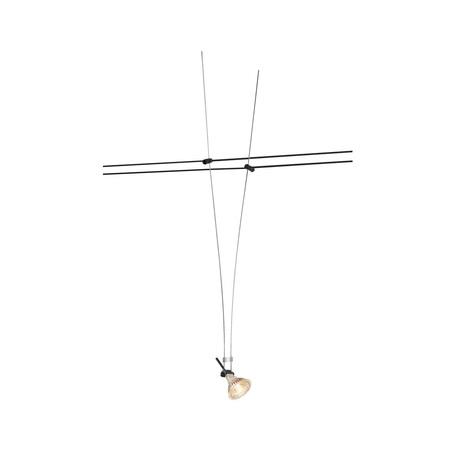 Светильник для тросовой системы SLV TENSEO, ASMARA 139070, 1xGU5.3x35W, черный, металл