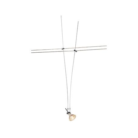Светильник с регулировкой направления света для тросовой системы SLV TENSEO, ASMARA 139072, 1xGU5.3x35W, хром, металл