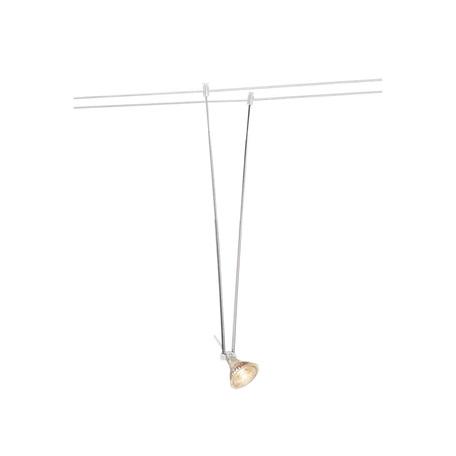 Светильник с регулировкой направления света для тросовой системы SLV TENSEO, TELESCOPE 139081, 1xGU5.3x20W, белый, металл