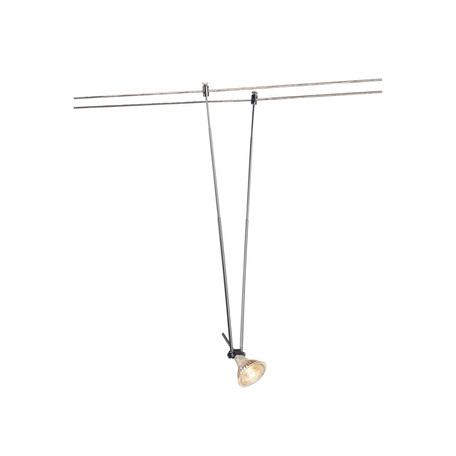 Светильник для тросовой системы SLV TENSEO, TELESCOPE 139082, 1xGU5.3x20W, хром, металл