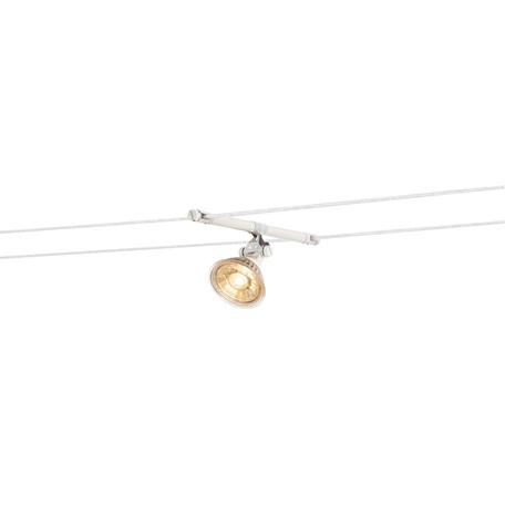 Светильник с регулировкой направления света для тросовой системы SLV TENSEO, COSMIC 139091, 1xGU5.3x35W, белый, металл