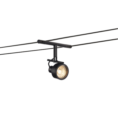 Светильник с регулировкой направления света для тросовой системы SLV TENSEO, SALUNA 139130, 1xGU5.3x35W, черный