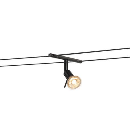 Светильник с регулировкой направления света для тросовой системы SLV TENSEO, SYROS 139100, 1xGU5.3x50W, черный, металл