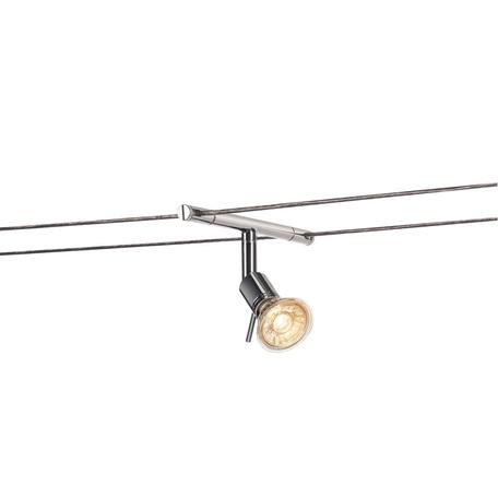 Светильник с регулировкой направления света для тросовой системы SLV TENSEO, SYROS 139102, 1xGU5.3x50W, хром, металл