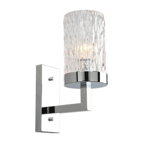 Светильник Omnilux Maiera OML-84701-01, 1xE14x40W, хром, прозрачный, металл, стекло