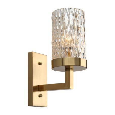 Светильник Omnilux Maiera OML-84711-01, 1xE14x40W, золото, янтарь, металл, стекло