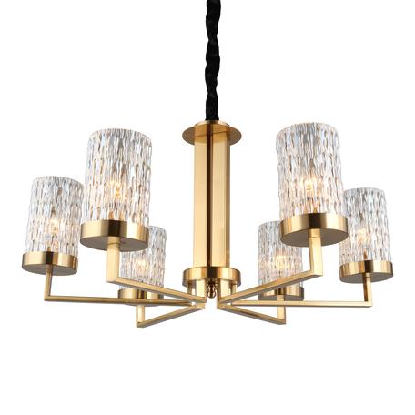 Светильник Omnilux Maiera OML-84713-06, 6xE14x40W, золото, янтарь, металл, стекло