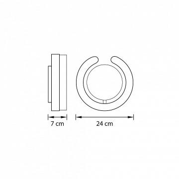 Схема с размерами Lightstar 763693