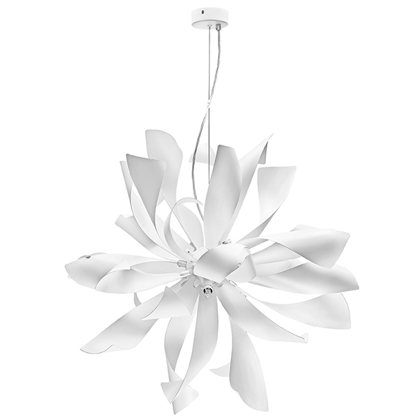 Подвесная люстра Lightstar Turbio 754266, 6xG9x40W, белый, металл - фото 1