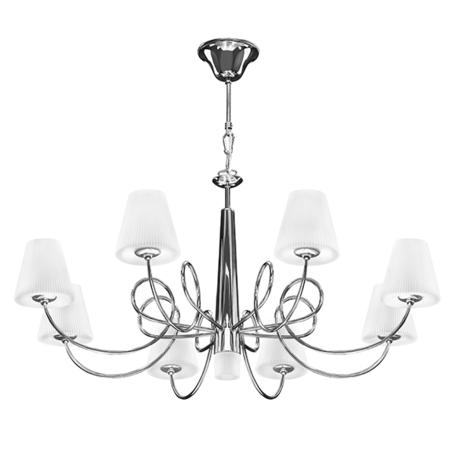 Подвесная люстра Lightstar Vortico 814294, 9xG9x40W, хром, белый, металл, стекло