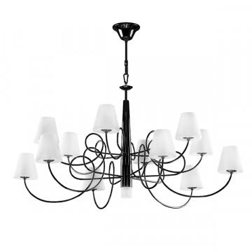 Подвесная люстра Lightstar Vortico 814337, 13xG9x40W, черный, белый, металл, стекло