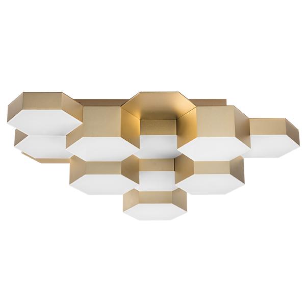 Потолочная светодиодная люстра Lightstar Favo 750121, IP40, LED 60W 3000K 2880lm, матовое золото, металл, пластик - фото 1
