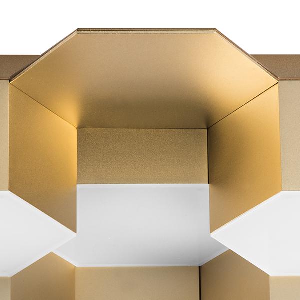 Потолочная светодиодная люстра Lightstar Favo 750121, IP40, LED 60W 3000K 2880lm, матовое золото, металл, пластик - фото 2