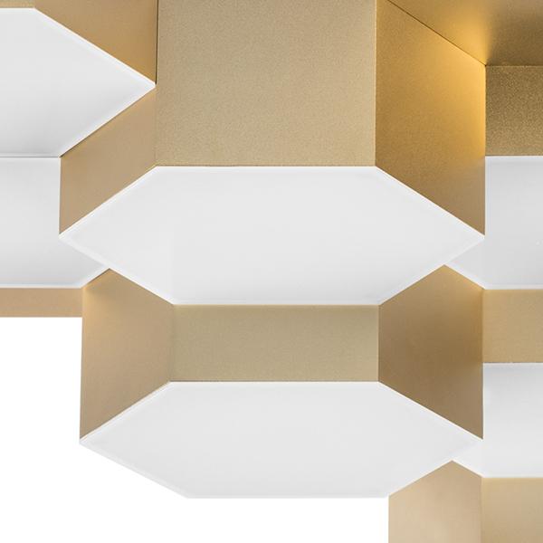 Потолочная светодиодная люстра Lightstar Favo 750121, IP40, LED 60W 3000K 2880lm, матовое золото, металл, пластик - фото 4