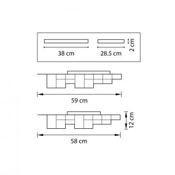Схема с размерами Lightstar 750121