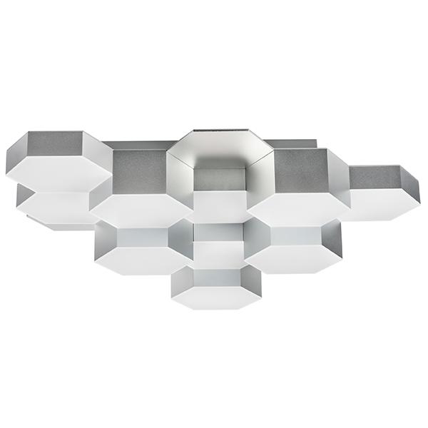 Потолочная светодиодная люстра Lightstar Favo 750122, IP40, LED 60W 3000K 2880lm, матовый хром, металл, пластик - фото 1