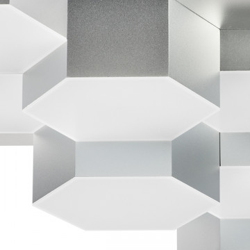 Потолочная светодиодная люстра Lightstar Favo 750122, IP40, LED 60W 3000K 2880lm, матовый хром, металл, пластик - миниатюра 2