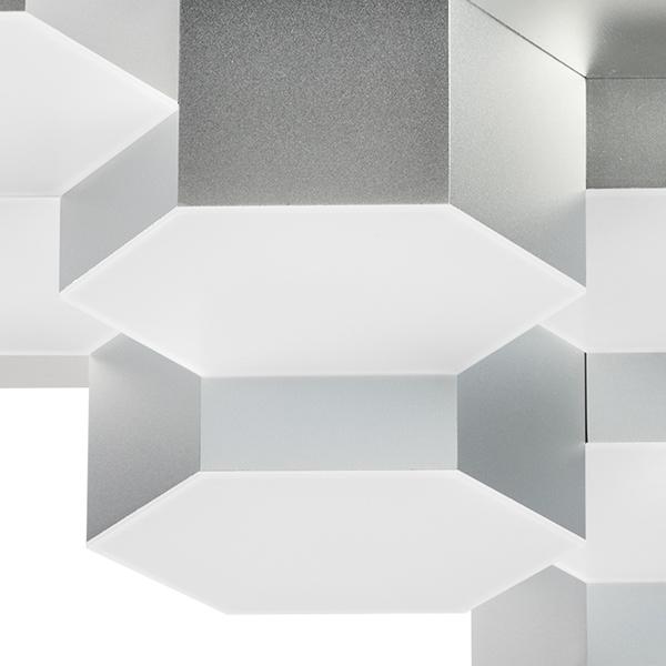 Потолочная светодиодная люстра Lightstar Favo 750122, IP40, LED 60W 3000K 2880lm, матовый хром, металл, пластик - фото 2