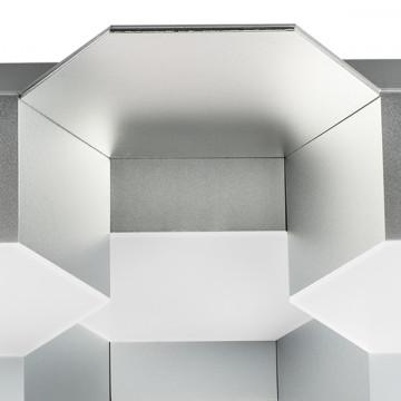 Потолочная светодиодная люстра Lightstar Favo 750122, IP40, LED 60W 3000K 2880lm, матовый хром, металл, пластик - миниатюра 3