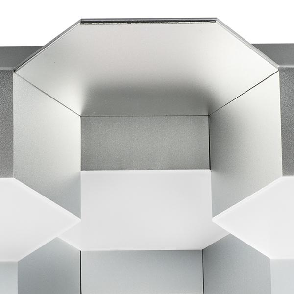 Потолочная светодиодная люстра Lightstar Favo 750122, IP40, LED 60W 3000K 2880lm, матовый хром, металл, пластик - фото 3