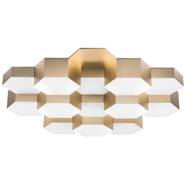 Потолочная светодиодная люстра Lightstar Favo 750161, IP40, LED 80W 3000K 3840lm, матовое золото, металл, пластик - фото 1