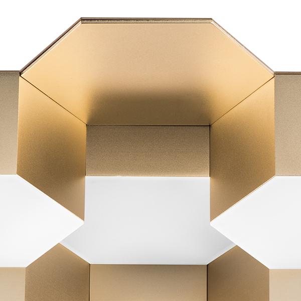 Потолочная светодиодная люстра Lightstar Favo 750161, IP40, LED 80W 3000K 3840lm, матовое золото, металл, пластик - фото 2