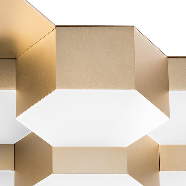 Потолочная светодиодная люстра Lightstar Favo 750161, IP40, LED 80W 3000K 3840lm, матовое золото, металл, пластик - фото 3