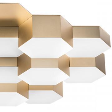 Потолочная светодиодная люстра Lightstar Favo 750161, IP40, LED 80W 3000K 3840lm, матовое золото, металл, пластик - миниатюра 4