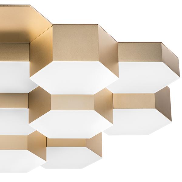 Потолочная светодиодная люстра Lightstar Favo 750161, IP40, LED 80W 3000K 3840lm, матовое золото, металл, пластик - фото 4