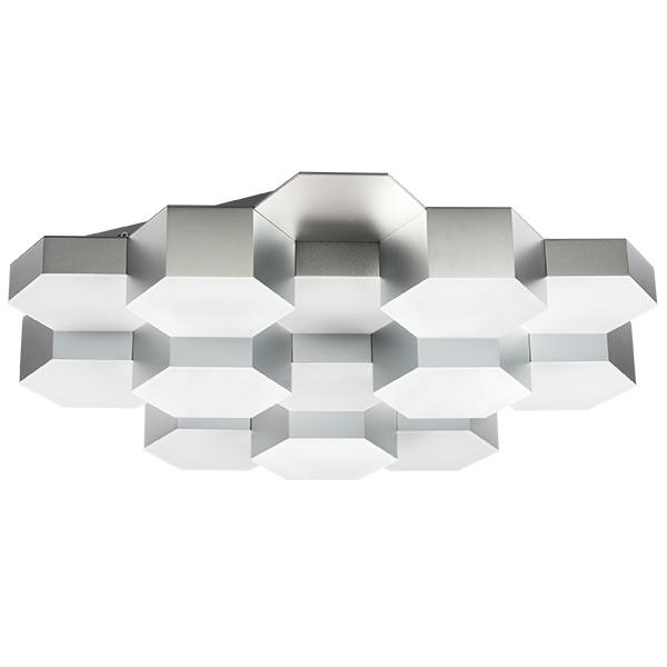 Потолочная светодиодная люстра Lightstar Favo 750162, IP40 3000K (теплый), матовый хром, белый, металл, пластик - фото 1