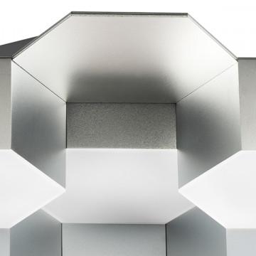 Потолочная светодиодная люстра Lightstar Favo 750162, IP40 3000K (теплый), матовый хром, белый, металл, пластик - миниатюра 2