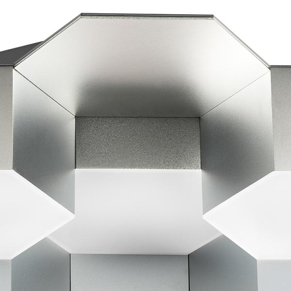Потолочная светодиодная люстра Lightstar Favo 750162, IP40 3000K (теплый), матовый хром, белый, металл, пластик - фото 2