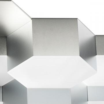 Потолочная светодиодная люстра Lightstar Favo 750162, IP40, LED 80W 3000K 3840lm, матовый хром, металл, пластик - миниатюра 3