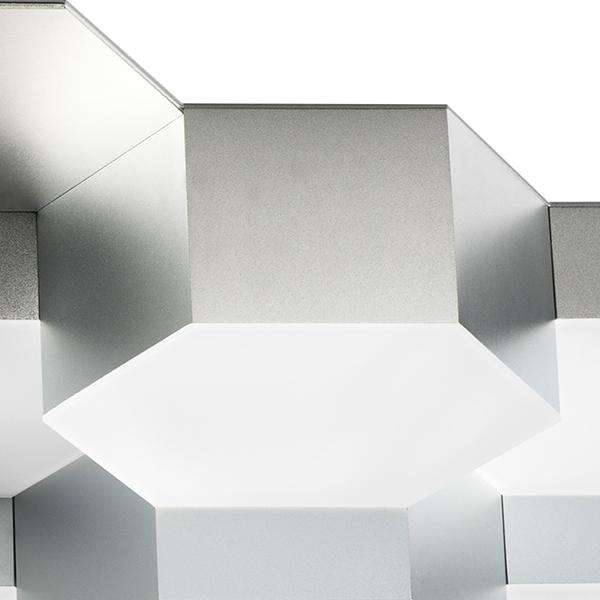 Потолочная светодиодная люстра Lightstar Favo 750162, IP40, LED 80W 3000K 3840lm, матовый хром, металл, пластик - фото 3