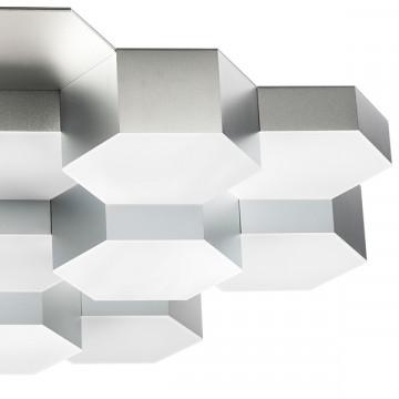 Потолочная светодиодная люстра Lightstar Favo 750162, IP40, LED 80W 3000K 3840lm, матовый хром, металл, пластик - миниатюра 4