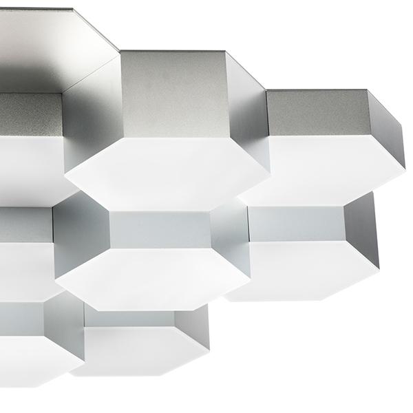 Потолочная светодиодная люстра Lightstar Favo 750162, IP40, LED 80W 3000K 3840lm, матовый хром, металл, пластик - фото 4