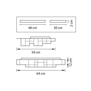 Схема с размерами Lightstar 750162