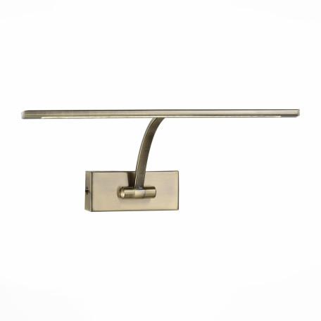 Настенный светодиодный светильник для подсветки картин ST Luce Minare SL595.301.01, LED 8W 4000K, бронза, металл