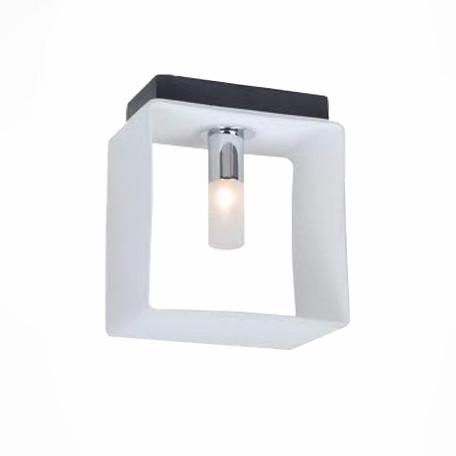 Настенный светильник ST Luce Concreto SL536.501.01, 1xG9x40W, черный, белый, металл, стекло