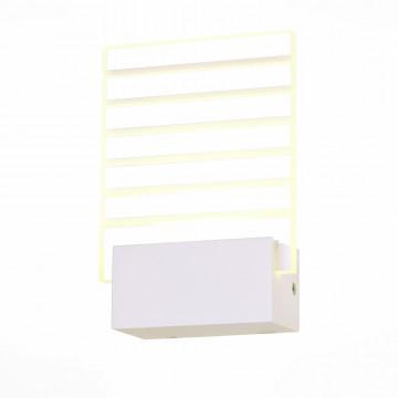 Настенный светодиодный светильник ST Luce Luogo SL580.101.01, LED 6W 4000K, белый, прозрачный, металл, пластик